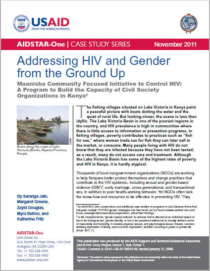 Addressing HIV and Gender  from the Ground Up
