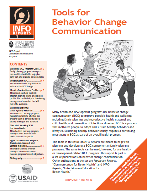 Tools for Behavior Change Communication