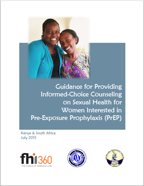 Guidance for providing informed-choice counseling on sexual health for women interested in PrEP
