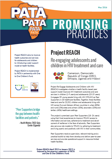 Project REACH Re-engaging adolescents and children in HIV treatment and care