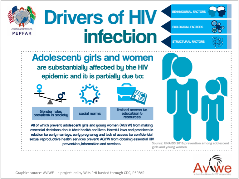 Drivers of HIV epidemic infographic slides