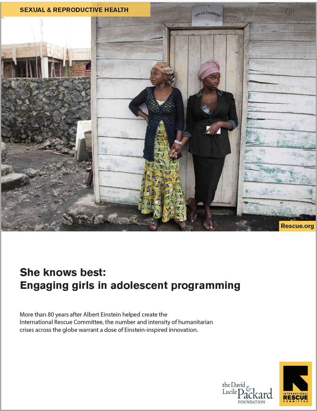 She knows best: Engaging girls in adolescent programming